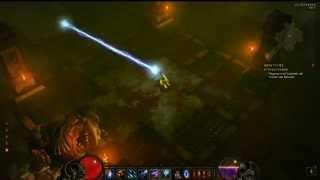 Diablo III Wizard's infinite Frost ray.