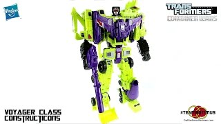 Video Review of the Transformers Combiner Wars Constructicons and DEVASTATOR