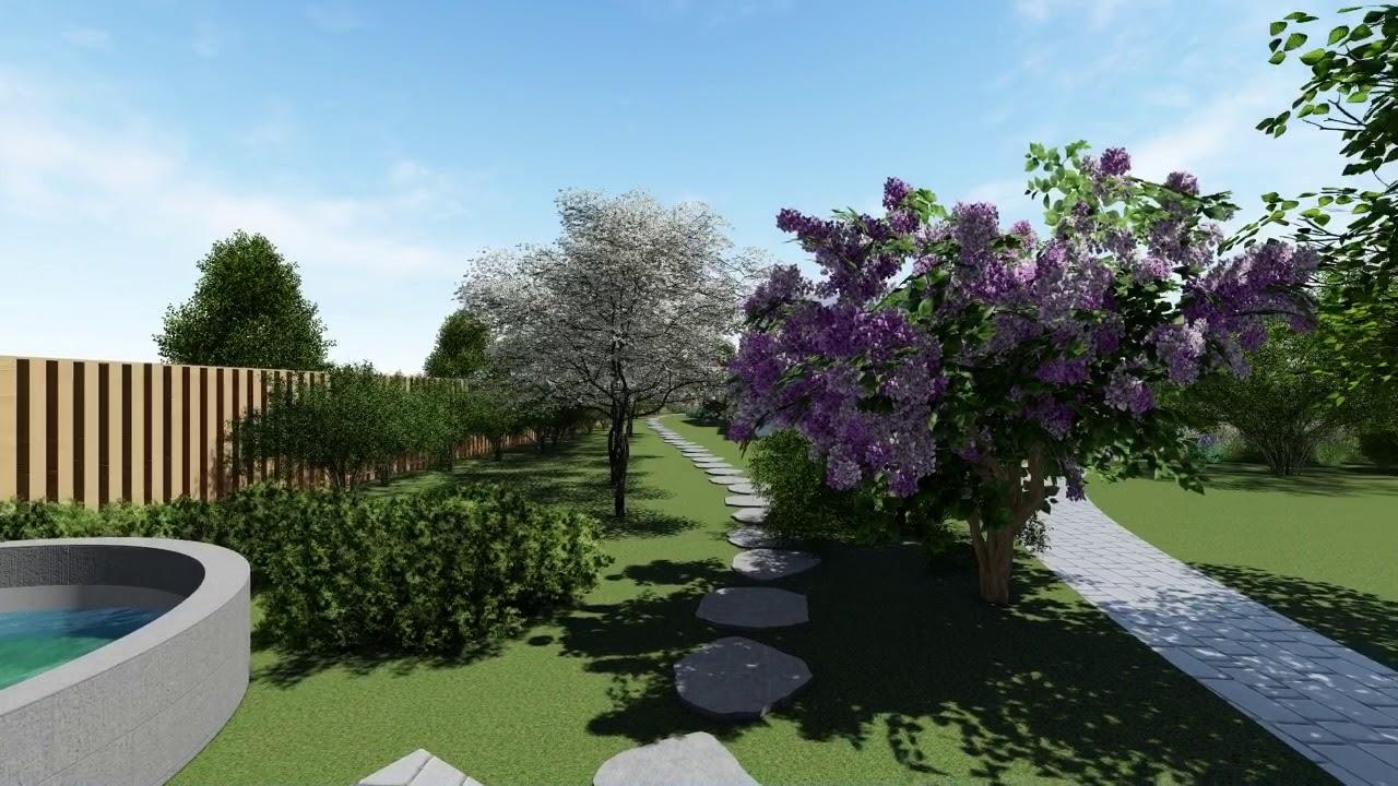 Ландшафтное проектирование от Geomitria Дизайна. 3D прогулка. Проект Английский парк