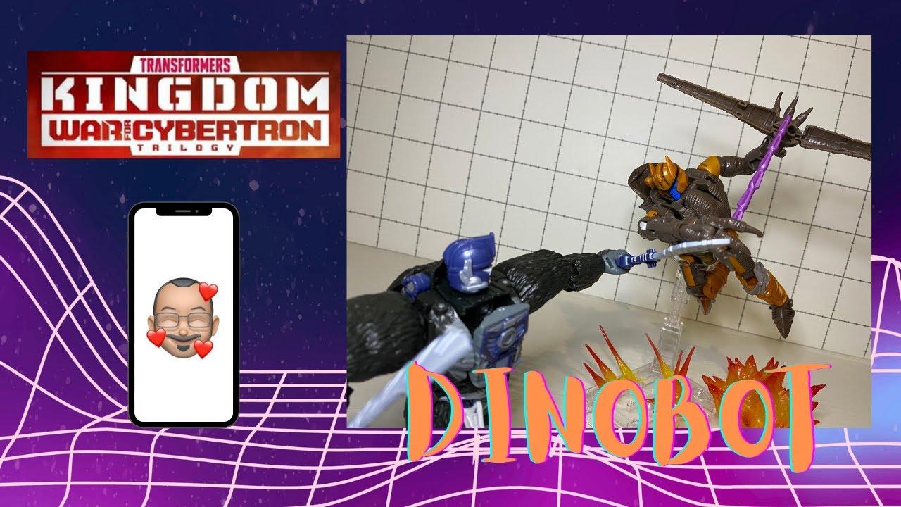 Tramsformers Kingdom Dinobot Review By Aikavari