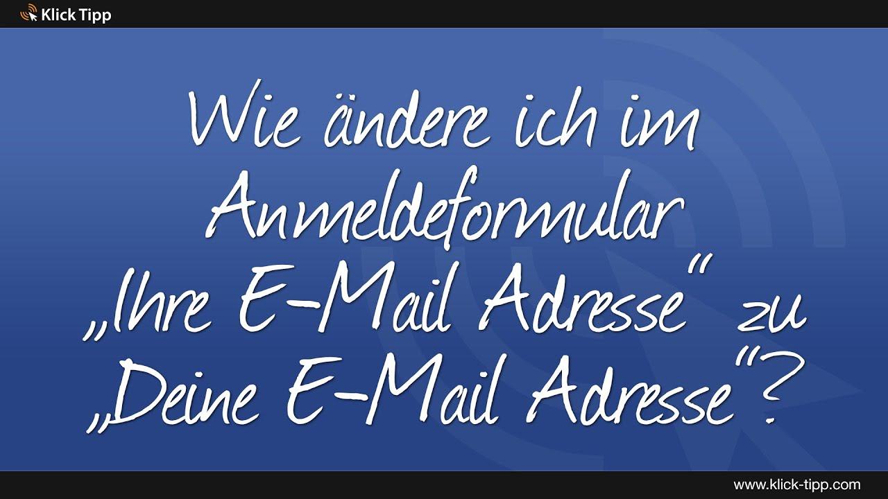 Ihre E Mail Adresse