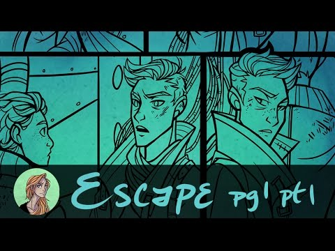 Inking a Graphic Novel Page || Escape Page 1 Pt. 1