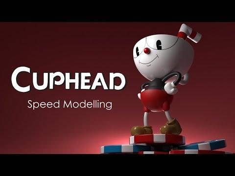 Cuphead | Speed Modelling Timelapse (Blender) | Bunker Maker