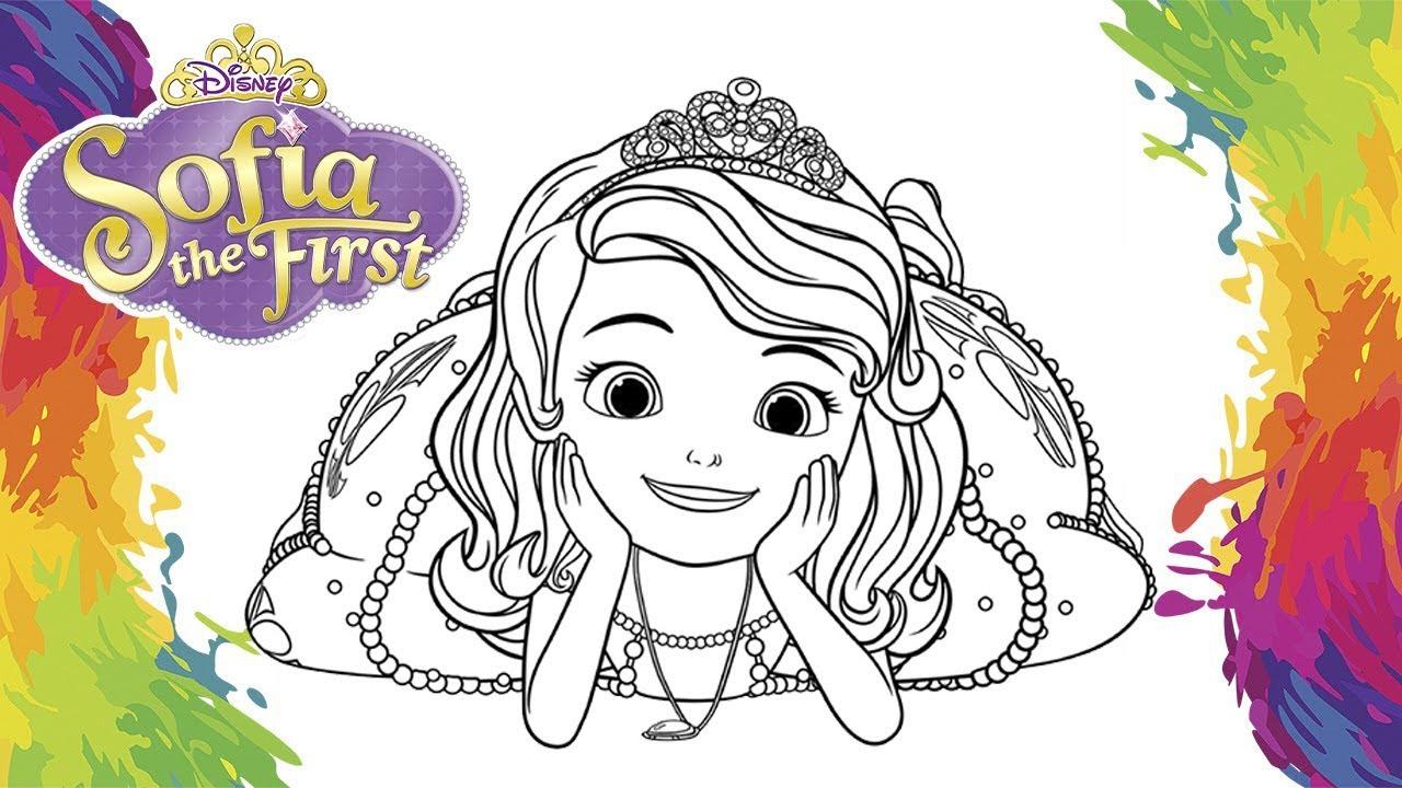 Pintar Princesa Sofia Para Crianca Em Portugues Princess Color