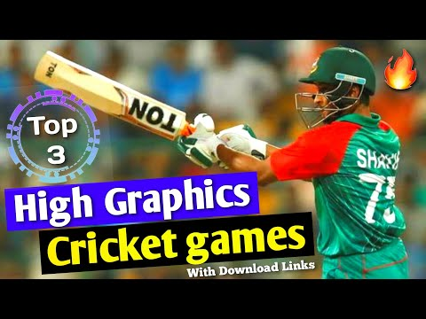 Top 3 High Graphics Cricket Game For Android & IOS | ICC Best Cricket Game