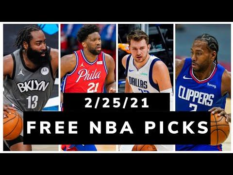 Free NBA Picks Today (Thu Feb 25, 2021) NBA Betting Picks, Vegas Odds, News and NBA DFS Plays