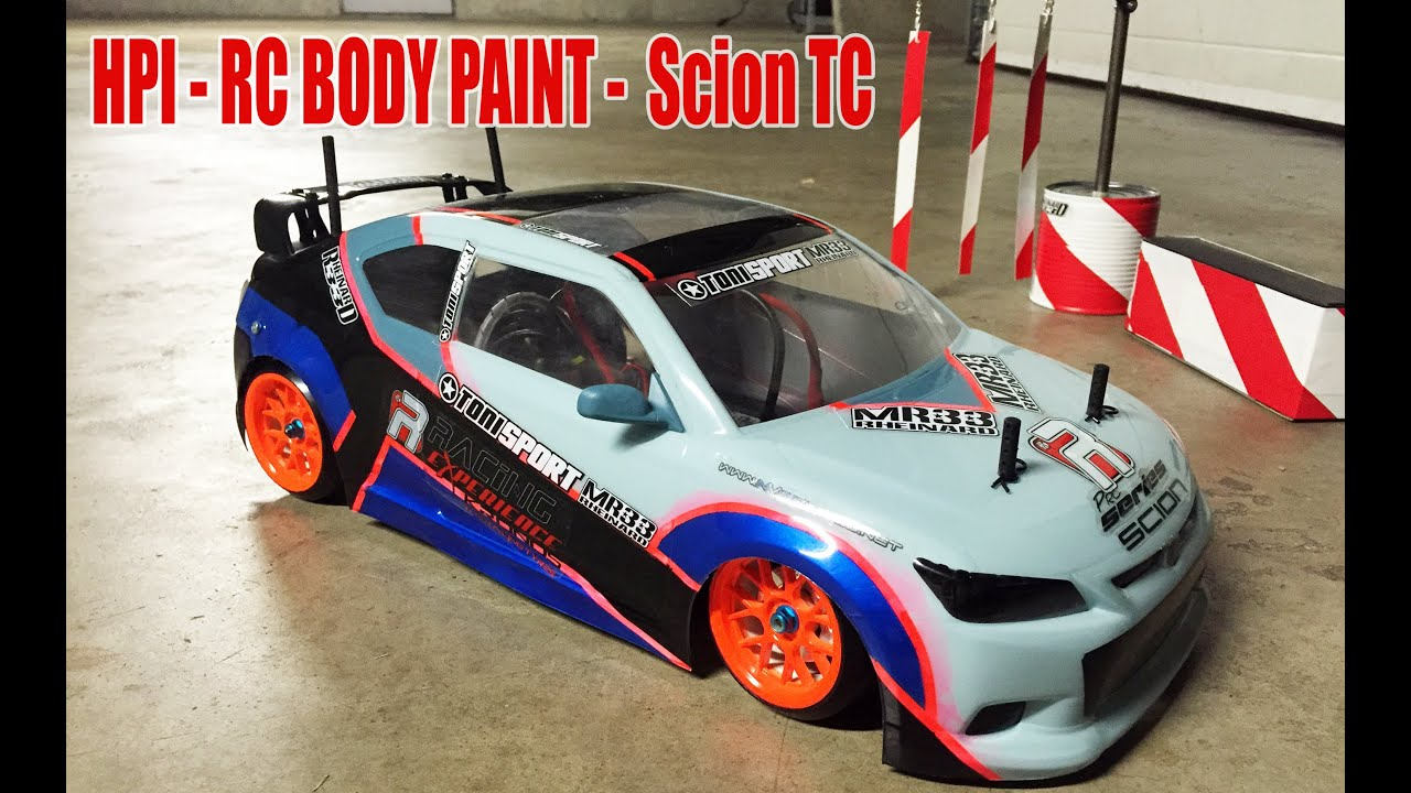 Rc Drift Car Painted Body Hpi Scion Tc Yokomo Dp Homemade Chis You