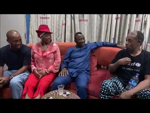 Sowore chats with Femi Kuti @ the New Africa Shrine, Lagos  #TakeItBack