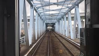 阪神なんば線 前面展望 尼崎~伝法 Hanshin Namba Line, from Amagasaki to Dempō (2018.9)