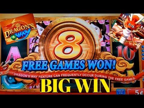 Dragon's Way Slot Machine Bonus BIG WIN ! + Wonder 4 Wheel Timber Wolf Deluxe Bonuses Won
