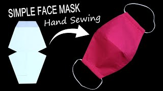 Simple DIY Face Mask | DIY Face Mask No Sewing Machine | with Filter Pocket