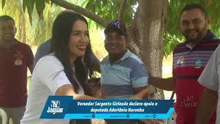 Vereador Sargento Girleudo declara apoio a deputada Aderlânia Noronha