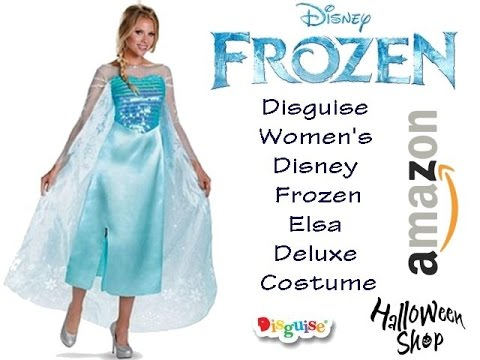 Disguise Womenu0027s Disney Frozen Elsa Deluxe Costume  sc 1 st  YouTube : disney frozen costume for adults  - Germanpascual.Com