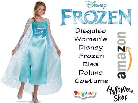 Disguise Womenu0027s Disney Frozen Elsa Deluxe Costume  sc 1 st  YouTube & Disguise Womenu0027s Disney Frozen Elsa Deluxe Costume - YouTube