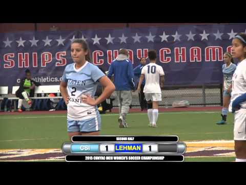 2015 CUNYAC Women's Soccer Championship Game: CSI vs Lehman
