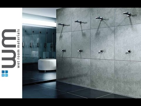 how to install a wet room and linear wall drain. Black Bedroom Furniture Sets. Home Design Ideas