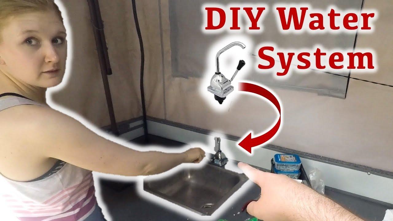 diy camper water sink faucet four wheel camper build
