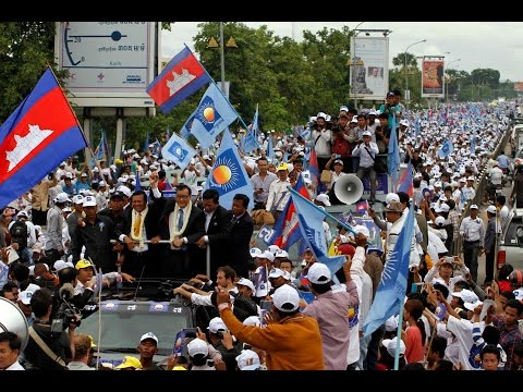 Video of_Sam Rainsy in_Phnom Penh on_July 19 2013