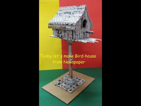 DIY Bird House, School Project, Newspaper Art, Best out of waste