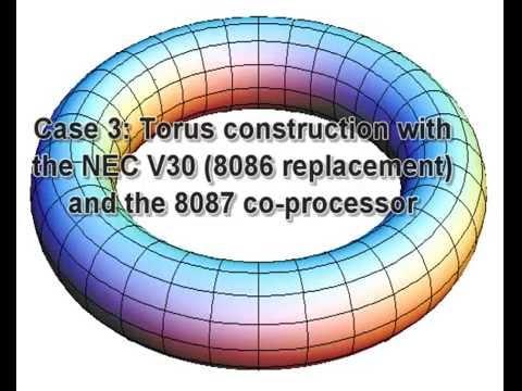 8086 vs 8086 + 8087 vs NEC V30 + 8087
