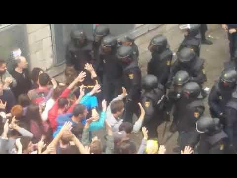 Spanish police attacks on catalan people