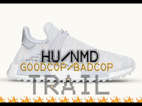 another chance d4f61 e2747 Pharrell x Adidas NMD Human Race Trail Cotton Candy- GOODCOP BADCOP
