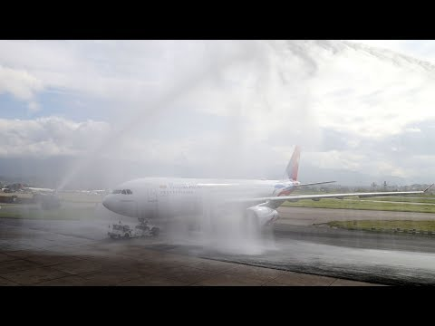 Nepal Airlines new Wide-Body Airbus 330-200 arrives at TIA