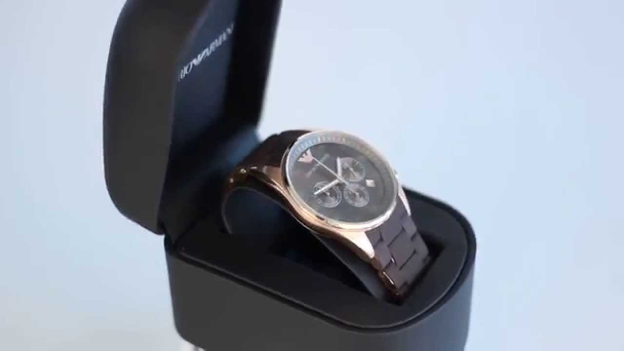 Brown armani watches
