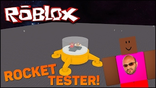 Jogando Roblox (Rocket Tester) #2 - LUA E TEEMO SPACE PROGRAM!
