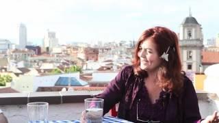 Con Isabel Escudero en la Azotea