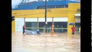 ENCHENTE  EM JARAGUÁ DO SUL - 08/06/2014 #forçajaraguá