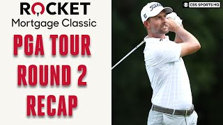 Round 2 Recap of PGA Tour Rocket Mortgage Classic; Webb Simpson Tied For Lead | CBS Sports HQ
