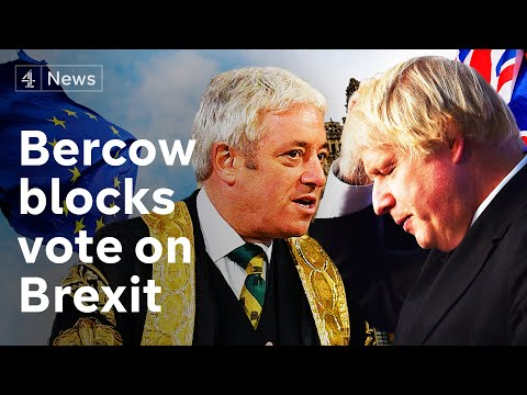 Vote on Boris Johnson's Brexit deal rejected by Speaker