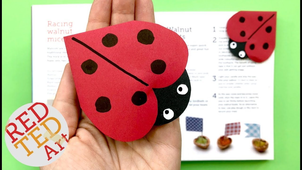 ladybug corner bookmark ladybug corner bookmark diy how to make a corner 2301