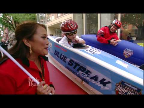 Ryan & Carrie Ann Inaba Race Soap Box Derby Winner