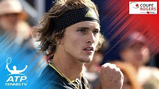 Federer, Zverev to meet in final   Coupe Rogers 2017 Semi-Final Highlights