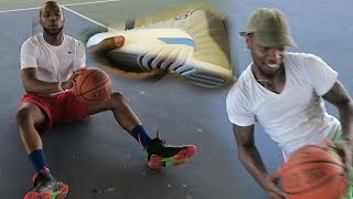 H.O.R.S.E IN REAL REAL BASKETBALL WITH MY BROTHER! NEW JORDAN 12
