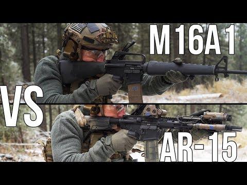 Vietnam M16A1 vs Modern AR15
