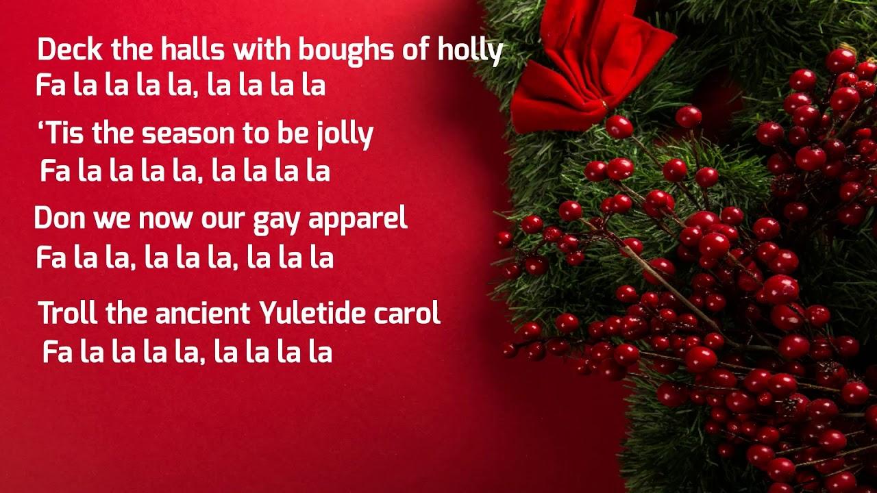 Deck the Halls with Lyrics | Christmas Carol & Song 2020 | Christmas Specials - YouTube