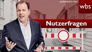Darf Investor Zugang zu meiner Straße sperren – Extra3 | Nutzerfragen RA Christian Solmecke