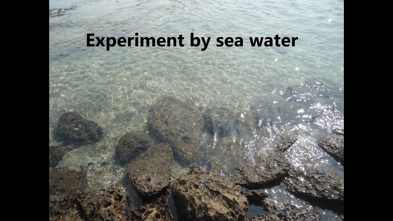 Experiment By Sea Water turn into salt