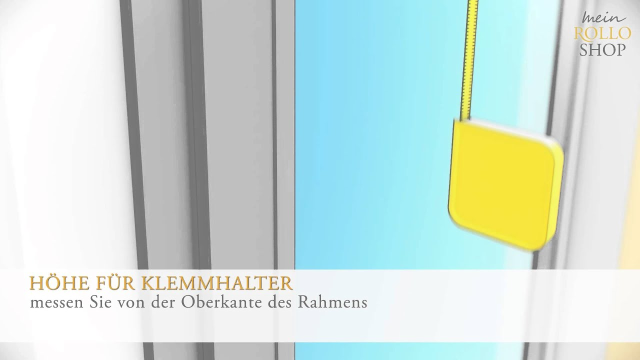 Interessant Richtig Messen bei Klemmhalter Montage - www.mein-Rolloshop.de  NR43