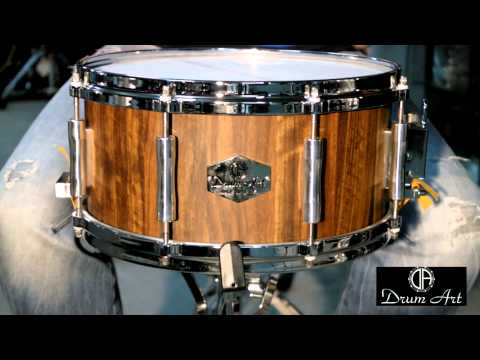 "Tarola DrumArt Mutenia Walnut 13x6.5"" - Groove It Up Drum Shop"