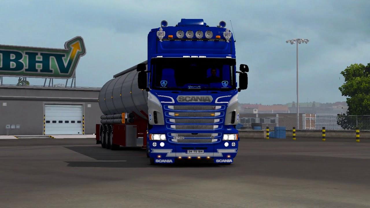Scania rs rjl black red griffin skin accessory parts ets2 mods euro truck simulator 2 mods ets2mods lt