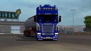 -Game Version  1.28.1.3 Truck Scania R Streamline modifications v2.2.1 by RJL:http://www.mediafire.com/file/xj20ko70yy1f11x/Scania+R+Streamline+modifications+v2.2.1+by+RJL.zip  Skin Scania RS (RJL) Blue Custom Skin Combo Pack + Accessory http://sharemods.