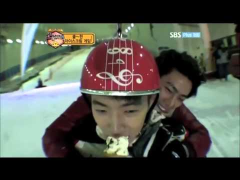 110723 [ENG SUBS] 2pm Show Wooyoung Ice Cream Sledding Cut