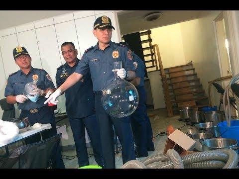 Cops raid 'shabu' laboratory in Greenhills, San Juan City