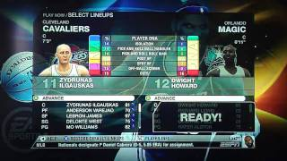 NBA Live 09 Rewind Game: Cavs vs Magic 5/26 Playoff 1st Q