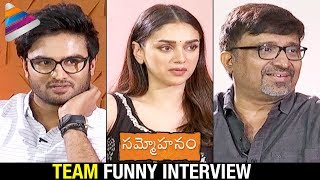 Sammohanam Team Movie Funny Interview | Sudheer Babu | Aditi Rao Hydari | Telugu FilmNagar