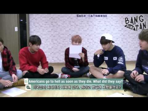 [ENG] 150430 BTS - Bangtan Quiz Show, RapMon proves why he is the Brain Monster